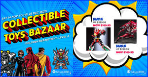 Featured image for Takashimaya Collectible Toys Bazaar now on till 25 Dec 2020