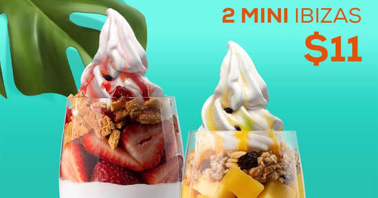 Featured image for Yolé: Enjoy two mini Ibizas for only $11 till 11 Nov 2020