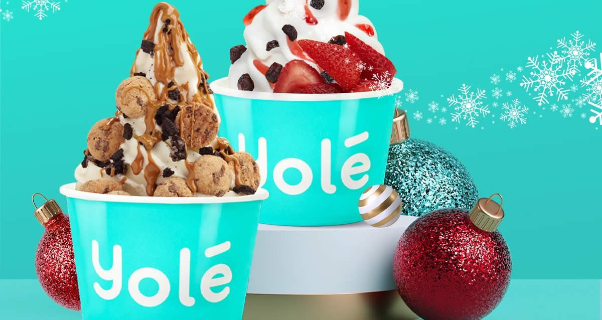 Featured image for Yolé: Grab two medium cups for just $10 at almost all outlets on 27 Nov 2020
