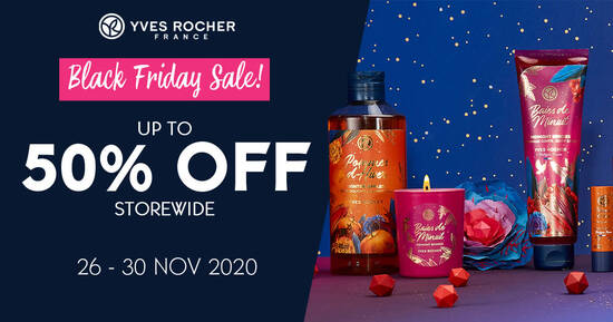 Featured image for Yves Rocher Black Friday Sale - Up to 50% Off Storewide from 26 - 30 Nov 2020