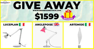 Giveaway Authentic Branded Lighting – EUROPEAN ,Brands Worth UP TO $1599, Event until 30 Dec 2020