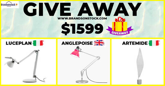 Featured image for Giveaway Authentic Branded Lighting - EUROPEAN ,Brands Worth UP TO $1599, Event until 30 Dec 2020
