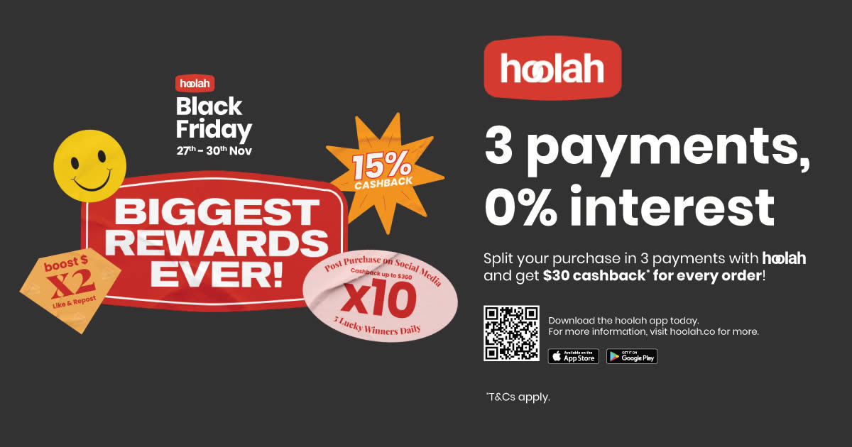 Featured image for hoolah Plots Biggest Promotion To-Date for Black Friday-Cyber Monday (27 - 30 Nov)