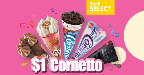 Featured image for $1 Cornetto Ice Cream (U.P. $2.40) at participating Shell Select stores till 31 Dec 2020