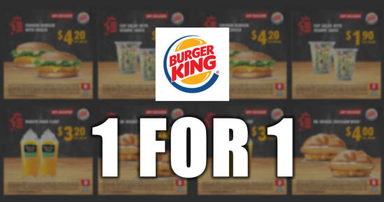 Featured image for Burger King releases 1-for-1 coupon deals valid till 31 Jan 2021