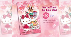 Featured image for EZ-Link releases new Sanrio Xmas EZ-Link card featuring Hello Kitty from 9 Dec 2020