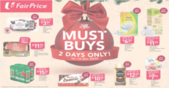 Fairprice 2day deals feat 12 Dec 2020