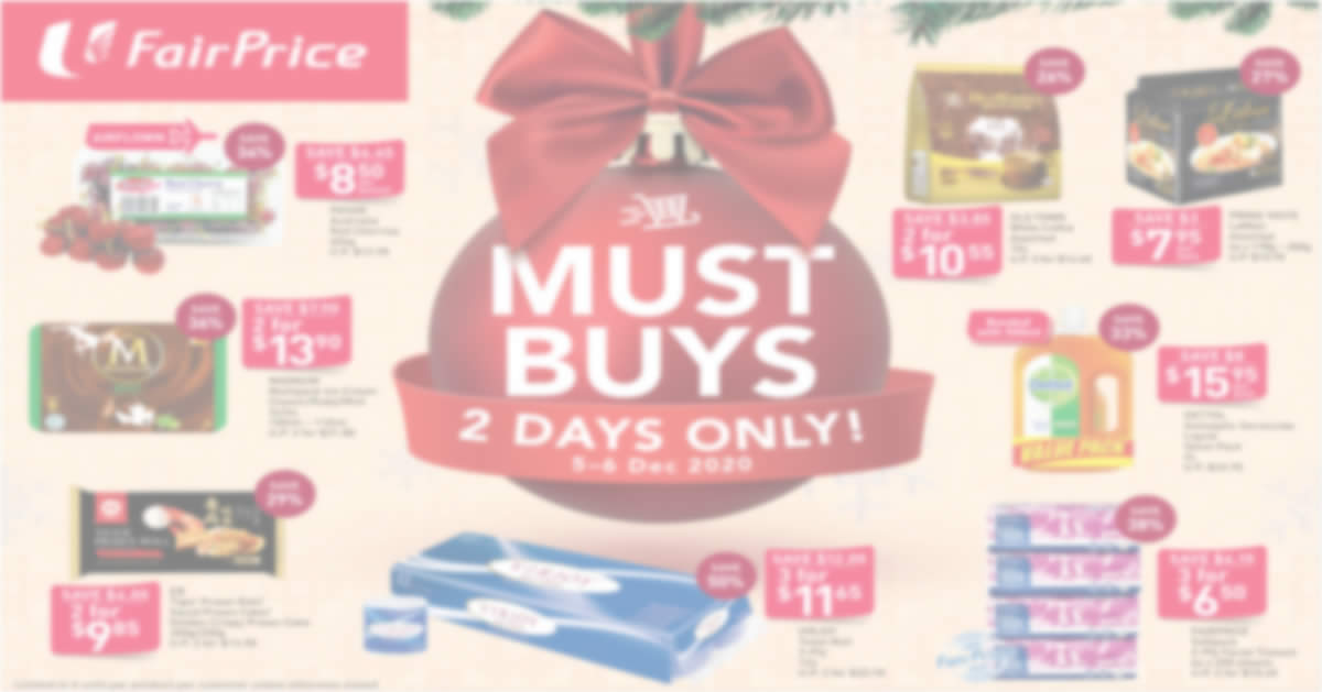 Featured image for Fairprice 2-day deals from 5 - 6 Dec: Magnum Multipack Ice Cream, Dettol Antiseptic Germicide Liquid & More