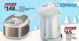 Fairprice Xtra: Spend & redeem Zojirushi products at up to 47% off till 30 Dec 2020