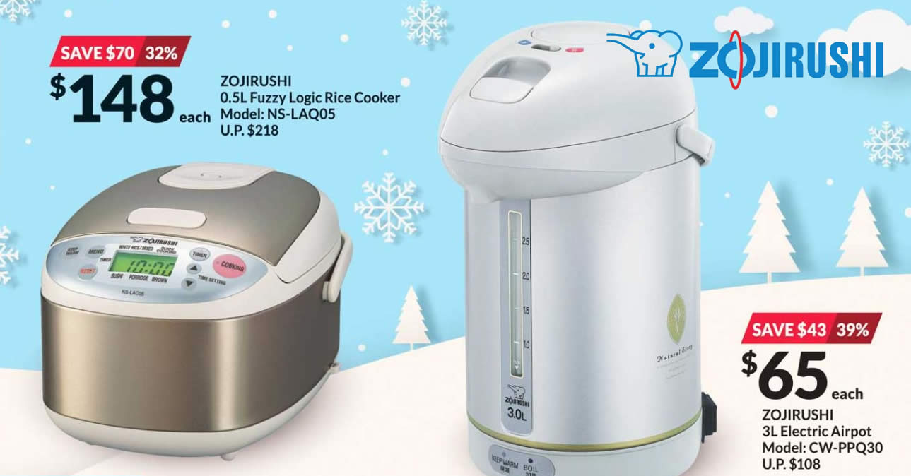 Featured image for Fairprice Xtra: Spend & redeem Zojirushi products at up to 47% off till 30 Dec 2020
