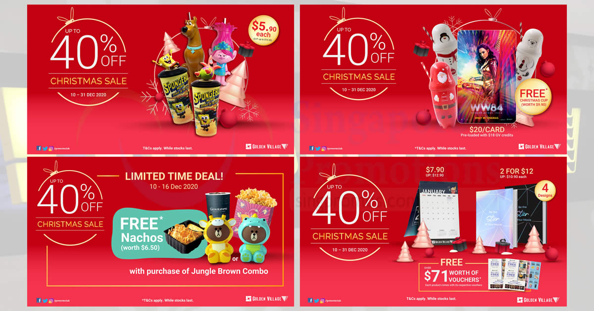 Featured image for Golden Village up to 40% off Christmas sale till 31 Dec 2020