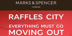 Featured image for Marks & Spencer Raffles City is having an up to 70% off moving out sale till 31 Dec 2020