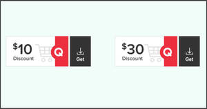 Qoo10: Grab free $10 and $30 cart coupons till 6 Dec 2020