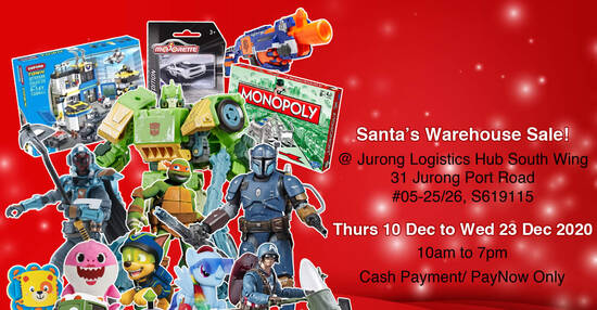 Featured image for Santa's Warehouse Sale 2020 - Marvel, NERF, Star Wars, Transformers, My Little Pony & more (10 - 23 Dec 2020)