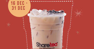 Featured image for Sharetea: Free Upsize for all Medium Cold Drinks at selected outlets till 31 Dec 2020