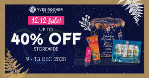 Featured image for Yves Rocher 12.12 Sale – Up to 40% Off Storewide from 9 – 13 Dec 2020