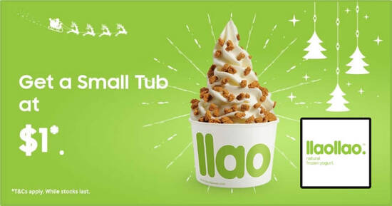 Featured image for (Fully Redeemed) llaollao: $1 small tub for Samsung Members till 15 February 2021