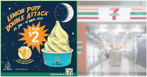 7-Eleven: Grab Lemon Puff Mr Softee soft serves at 2-for-$2 till 10 March 2021