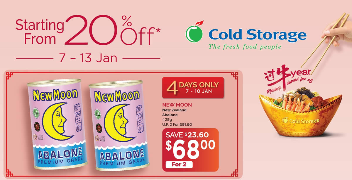 Featured image for Cold Storage: Haagen-Dazs @ 2-for-$19.90 (U.P. $29), New Moon, Skylight and more deals valid up to 13 Jan 2021