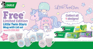 Featured image for Darlie: Free Limited Edition Little Twin Stars Mugs with purchase of Darlie Double Action Toothpaste triple packs