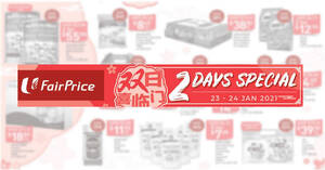 Fairprice 2-day deals from 23 – 24 Jan: 47% off Fukuyama Frozen Hokkaido Scallop, 36% off Coca-Cola/Sprite & More