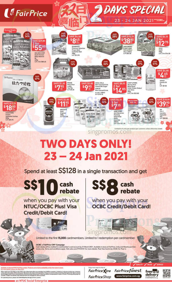 Fairprice 2day deals st orig 23 Jan 2021