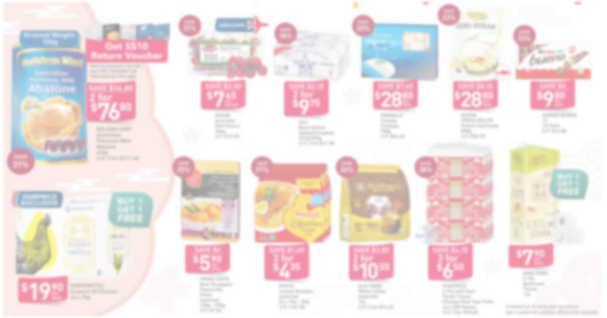Featured image for Fairprice 2-day deals from 2 - 3 Jan: Kinder Bueno, 1-for-1 Kinohimitsu Essence of Chicken & More