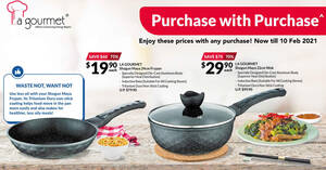 Fairprice Xtra: Save up to 75% off La Gourmet cookware from 14 Jan – 10 Feb 2021