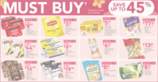 Featured image for Fairprice latest Must-Buy features up to 45% off Haagen-Dazs, Magnum, Skylight Abalone & more till 3 Feb 2021