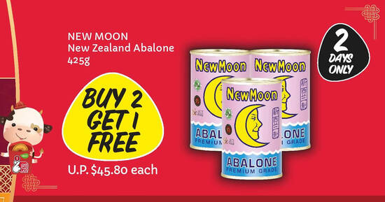 Featured image for TWO Days Only! Giant is offering Buy-2-Get-1-Free New Moon New Zealand Abalone till 29 Jan 2021