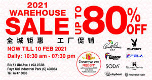 Gioven Kelvin Apparel Warehouse Sale now on till 10 Feb 2021
