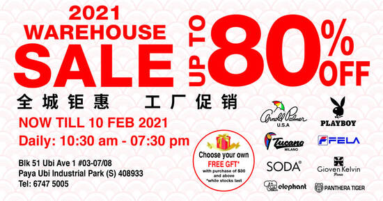 Featured image for Gioven Kelvin Apparel Warehouse Sale now on till 10 Feb 2021
