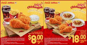 Featured image for Jollibee: Enjoy joyous meals for as low as $8 with these coupon deals valid till 5 March 2021