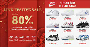Link Warehouse Sale – enjoy discounts up to 80% off shoes, bags & more from 28 – 31 Jan 2021