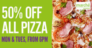 Marché Mövenpick: 50% OFF all pizzas at Raffles City & JEM (Mon & Tues, 6pm onwards)