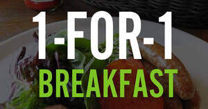 Marché Mövenpick: 1-FOR-1 weekday breakfast deal at Raffles City & JEM outlets (From 26 Jan 21)