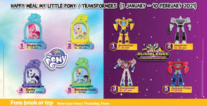 McDonald's latest Happy Meal toys features My Little Pony & Transformers till 10 Feb 2021