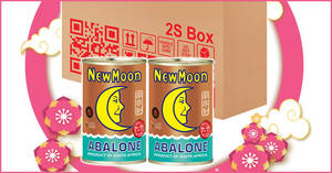 Grab New Moon South Africa 16-18pcs Abalone 400g at $36 for two cans (From 16 Jan 2021)