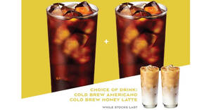 Paris Baguette: 1-for-1 Cold Brew Coffee from Mondays to Thursdays (From 25 Jan 21)