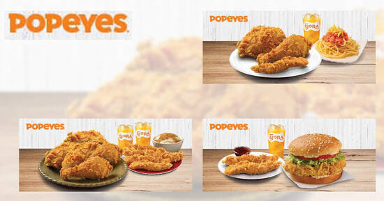 Featured image for Popeyes: Enjoy set meals from $9.90 with these discount coupon deals valid till 31 March 2021