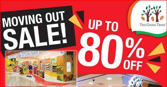 Featured image for The Cocoa Trees is having an up to 80% off moving out sale at Suntec City till 20 Jan 2021