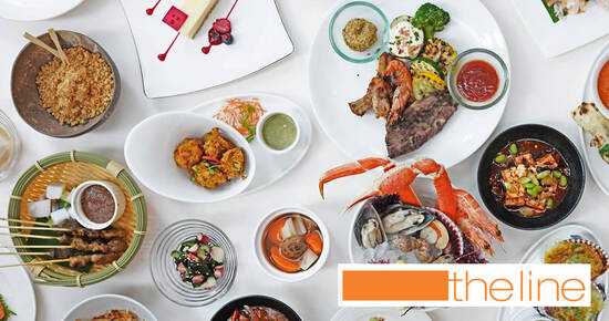 The Line at Shangri-La Hotel: Weekday Buffet Lunch 4th Diner Dines For Free till 29 October 2021
