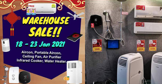 Featured image for Trentios warehouse sale on aircon, ceiling fan, air purifier and more now on till 23 Jan 2021