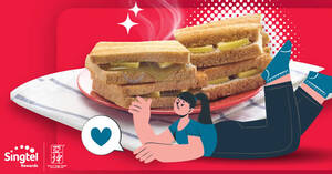 Featured image for $1.20 Ya Kun Traditional Toast for Singtel customers at almost all outlets till 11 Jan 2021