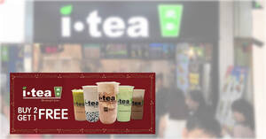 iTEA: Buy 2 Get 1 Free on selected drinks till 31 January 2021