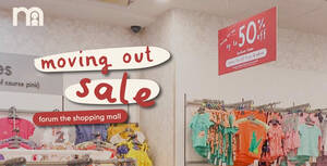 mothercare moving out sale at Forum the Shopping Mall till 14 March 2021