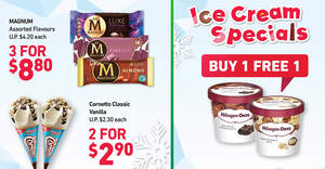 7-Eleven Ice Cream Specials: 1-for-1 Häagen-Dazs Mini Cups, 2-for-$2.90 Cornetto Classic Vanilla & More (From 18 Feb 2021)