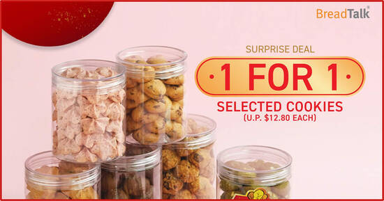 Featured image for BreadTalk: Enjoy 1-for-1 promotion on selected cookies (U.P. $12.80 each) till 11 Feb 2021