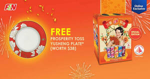 Featured image for F&N: FREE Yusheng Plate (worth $38) with $45 purchase of participating beverages* at Fairprice Online till 18 Feb 2021