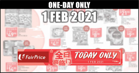 Featured image for Fairprice 1-day deals on 1 Feb: GOLDEN CHEF South Korean Baby Abalone, KitKat Sharebag, Darlie & More